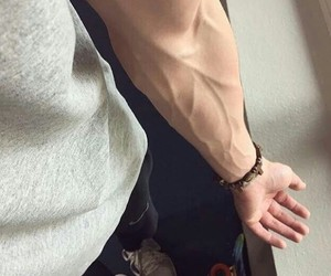 boy, veins, and guy image