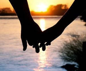beach, holding hands, and romance image