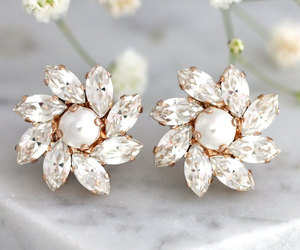 bridal, earrings, and etsy image