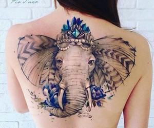 back, colorful, and elephant image