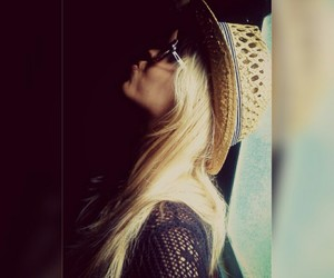 hat, window, and blondehair image