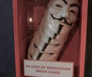 revolution, mask, and grunge image