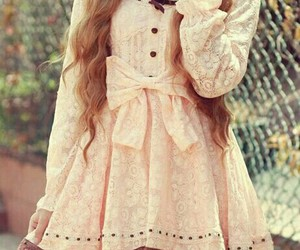 dress, cute, and pink image