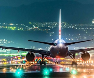 lights, airport, and beautiful image
