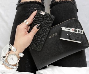 everything, all black, and phone cases image
