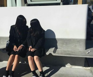 asian, bff, and black image