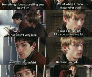 merlin, colin morgan, and bradley james image