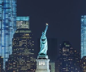 new york, new york city, and statue of liberty image