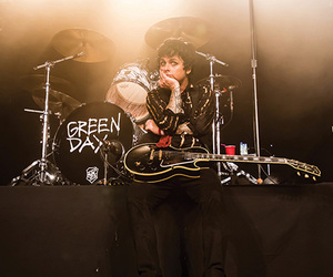 billie joe armstrong, concert, and drums image