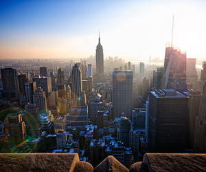 city, sun, and love image