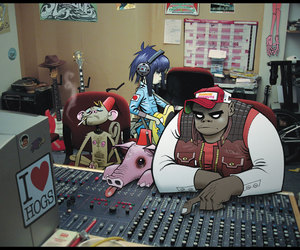 gorillaz, music, and studio image