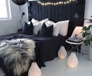 home, room, and black image