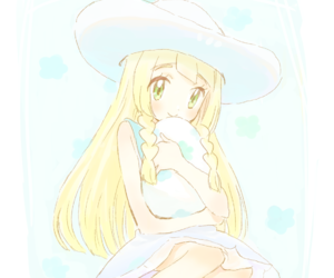 anime, lillie, and pokemon image