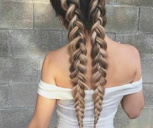 fashion, braids, and girl image