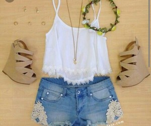 clothes, summer, and white image