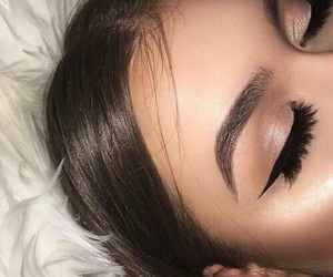 eyebrow, makeup, and eye liner image