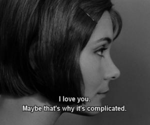 love, complicated, and quotes image