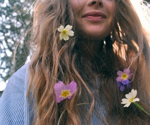 artsy, flower crown, and flowers image