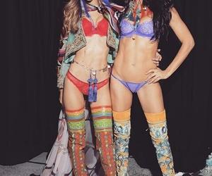 Adriana Lima and gigi hadid image