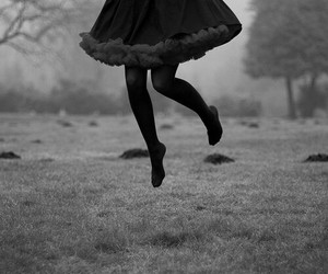 jump, dress, and black image
