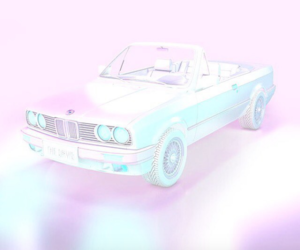 blue, car, and pastel image