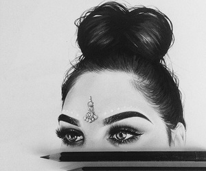 black and white, art, and drawing image