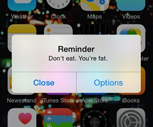 fat, iphone, and reminder image