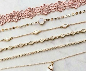 accessories, pink, and chain image