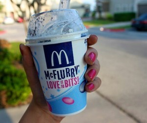 mcflurry, ice cream, and McDonalds image
