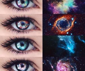eyes, universe, and perfect image