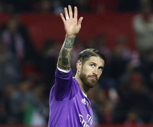 captain, sergio ramos, and real madrid vs sevilla image
