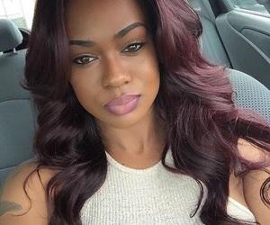 burgundy hair image