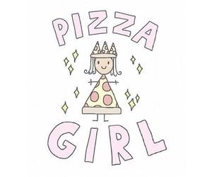 pizza, girl, and overlay image