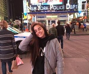 girl, new york, and smile image