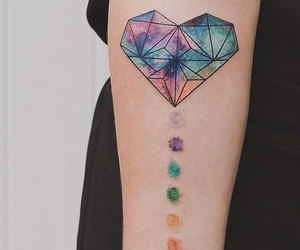 heart, tattoo, and colorful image