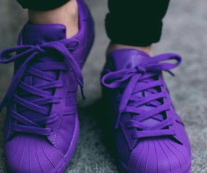 adidas, sneakers, and purple image