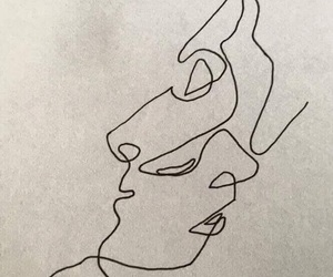 aesthetic, draw, and faces image