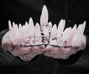 pink, crown, and crystal image