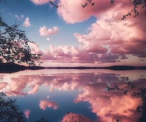 pink, sky, and nature image