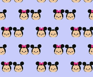 background, pattern, and mickey & minnie image