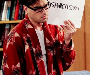 sarcasm, the big bang theory, and leonard image