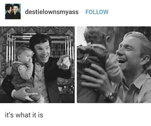 crying, Martin Freeman, and sherlock image