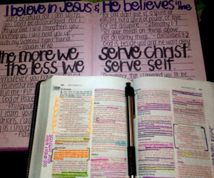 bible, notebook, and christian image