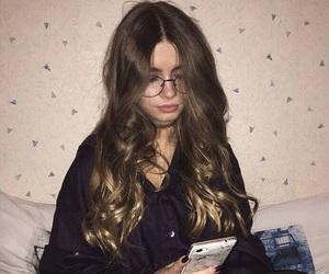 girl, hair, and theme image
