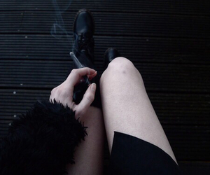 black, smoke, and grunge image