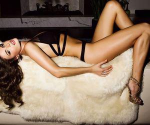 hair, heels, and model image