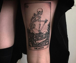 tattoo, death, and aesthetic image