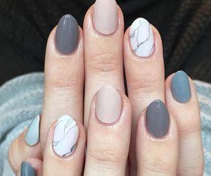 marble, nail art, and nails image