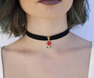 choker and rose image