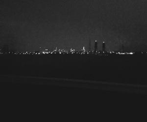 black, new york, and blurry image